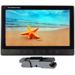 Monitor (9-inch) with mounting bracket, headrest with DVD/USB/SD card, with touch keyboard