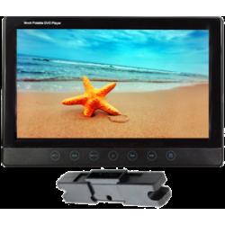 Monitor de 9 polegadas com suporte para montagem em encostos de cabeça com DVD/USB/SD, com teclado sensível ao toque
