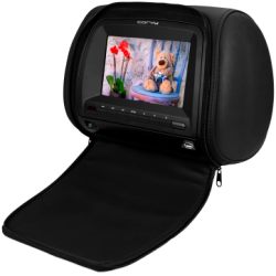 Monitor head 7 inch with DVD, USB/SD, with protective sleeve with zipper