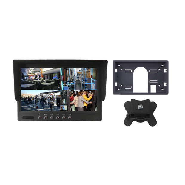 """Monitor 7"""" with 4 inputs video system (quad) RCA"""