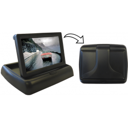 "Monitor 4.3"" foldable with 2 video inputs by RCA"