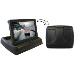 """Monitor de 4,3"""" plegable con 2 entradas de vídeo por RCA"""
