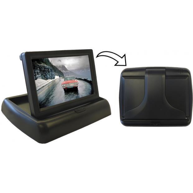 """Monitor 4,3"""" klappbar mit 2 video-eingänge (RCA"""