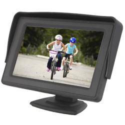 "Monitor da 4,3"" 2 ingresso video RCA"