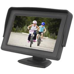 """Monitor de 4,3"""" com 2 entradas de vídeo RCA"""