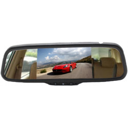 "Rearview mirror with monitor of 5"" attachable to the original rear view of the vehicle"
