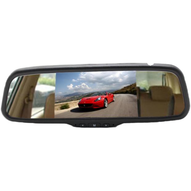 """Espelho retrovisor com monitor de 5"""" conectável no retrovisor original do veículo"""