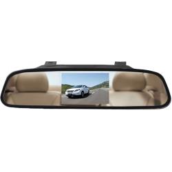 """Espelho retrovisor com monitor de 4,3"""" conectável no retrovisor original do veículo"""