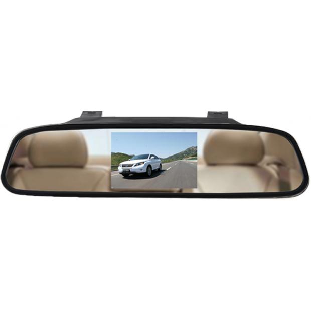"""Espejo retrovisor con monitor de 4,3"""" acoplable al retrovisor original del vehículo"""