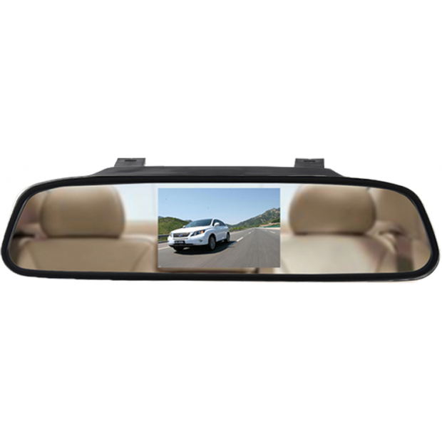 "Rearview mirror monitor 4.3"" attachable to the original rear view of the vehicle"