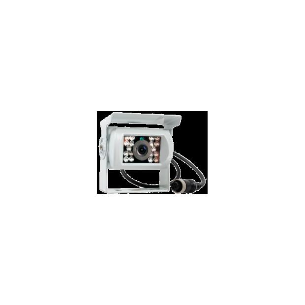 Cámara universal blanca de marcha atrás con conector a prueba de agua (4 pines) - Tipo 3
