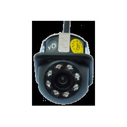 Câmera universal de marcha atrás para embutir com leds para visão noturna, conector RCA - 10 Tipo