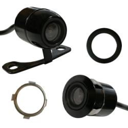 Câmera universal de marcha-atrás com dupla opção de montagem, conector RCA - Tipo 12