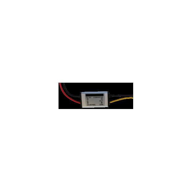 Konverter, der die spannung von 24 volt auf 12 volt.  5 ampere