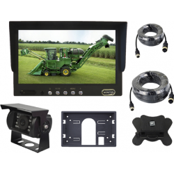 "Monitor 7"" with 2 video inputs, night vision camera, wiring of 5 meters and the other wiring of 10 meters"