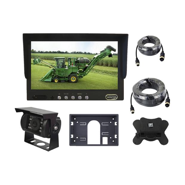 """Monitor 7"""" con 2 ingressi video, macchina fotografica di visione notturna, del cablaggio di 5 metri e l'altra di cablaggio di"""
