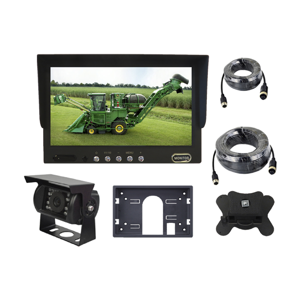 """Monitor 7"""" with 2 video inputs, night vision camera, wiring of 5 meters and the other wiring of 10 meters"""
