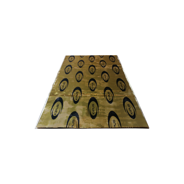 Pack de 5 peças insonorizantes auto-adesivas de 460x800 mm de espessura e 2,1 mm (com butilo de alta densidade) - Tipo 1