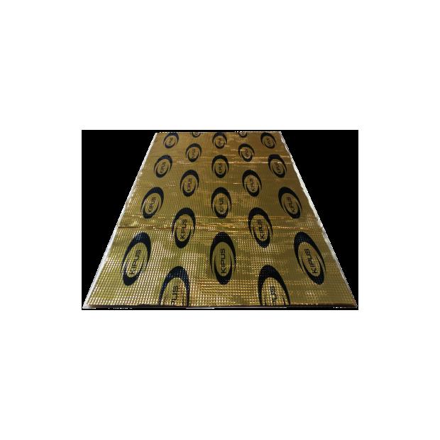 Pack de 5 pièces de l'isolant auto-adhésif 460x800 mm et une épaisseur de 2,1 mm (butyle de haute densité) - Type 1