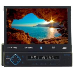 """Rádio com tela sensível ao toque extraível de 7"""", USB, SD card e Bluetooth"""
