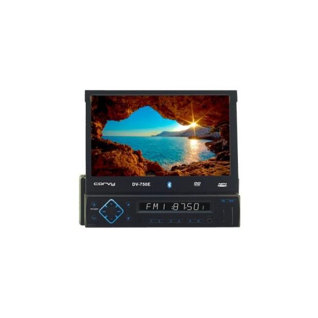 """Radio con pantalla táctil extraible de 7"""", USB, SD y Bluetooth"""