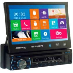"""Radio Navegador con pantalla táctil extraible de 7"""", GPS, DVD, USB, SD y Bluetooth"""