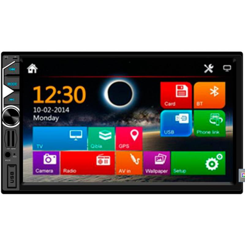 """Radio Doble Din con pantalla táctil de 7"""", USB, tarjeta SD, Bluetooth y entrada cámara trasera. El más vendido"""