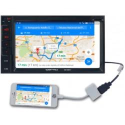 "Radio doble din con pantalla táctil de 6,2"" con USB/microSD. Conector HDMI que permite visualizar la pantalla de tu Smartphone"