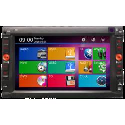 Radio Navigator double din avec écran tactile de 6,2, GPS, mémoire 4 GO, Bluetooth
