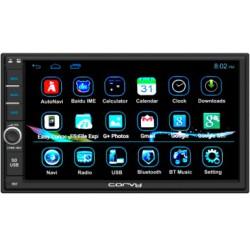 """Radio Navegador universal doble din con pantalla táctil capacitiva de 7"""" con sistema Android, 3G/4G, 4 nucleos, GPS, Bluetooth"""