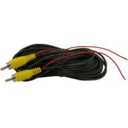 Cable RCA de vídeo de 15 m con positivo de alimentación