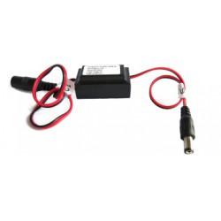 Conversor de tensão de 24 volts para 12 volts.  0,5 ampères