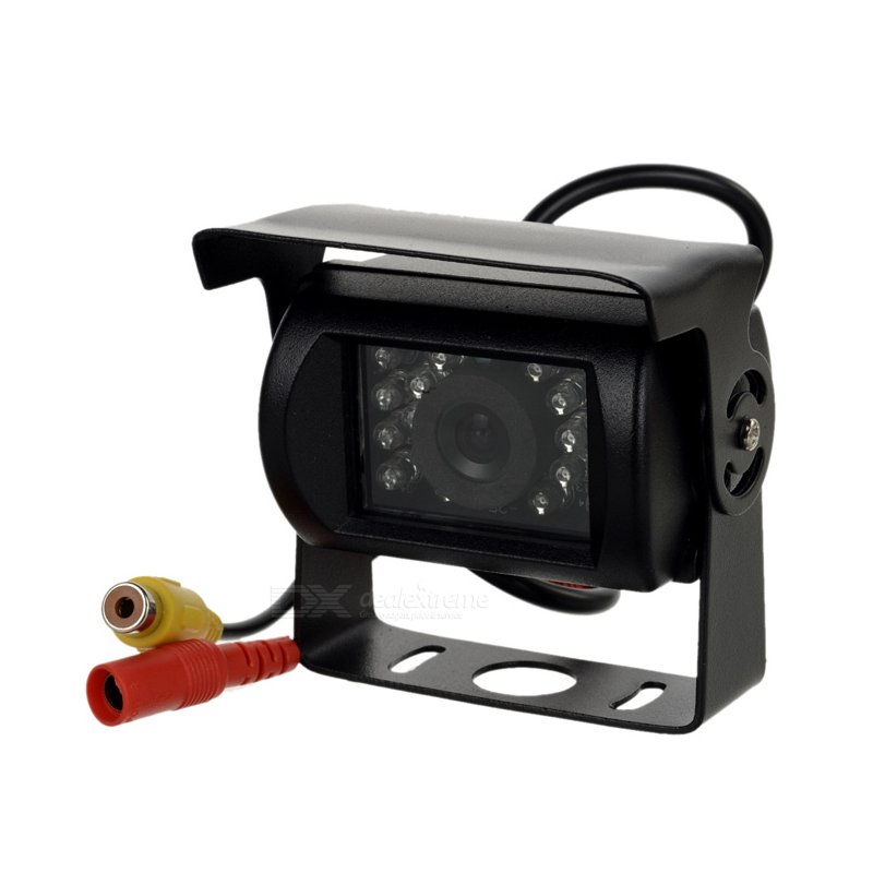 Câmera universal de marcha-atrás estanque com visão noturna, conector RCA - Tipo 2