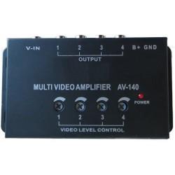 Amplificador de sinal de vídeo com uma entrada e quatro saídas