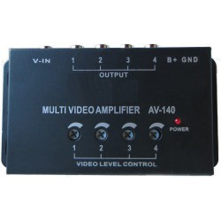 Amplifier video signal with one input and four outputs