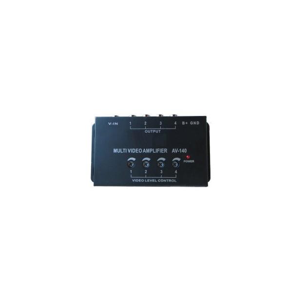 Amplificateur de signal vidéo avec une entrée et quatre sorties