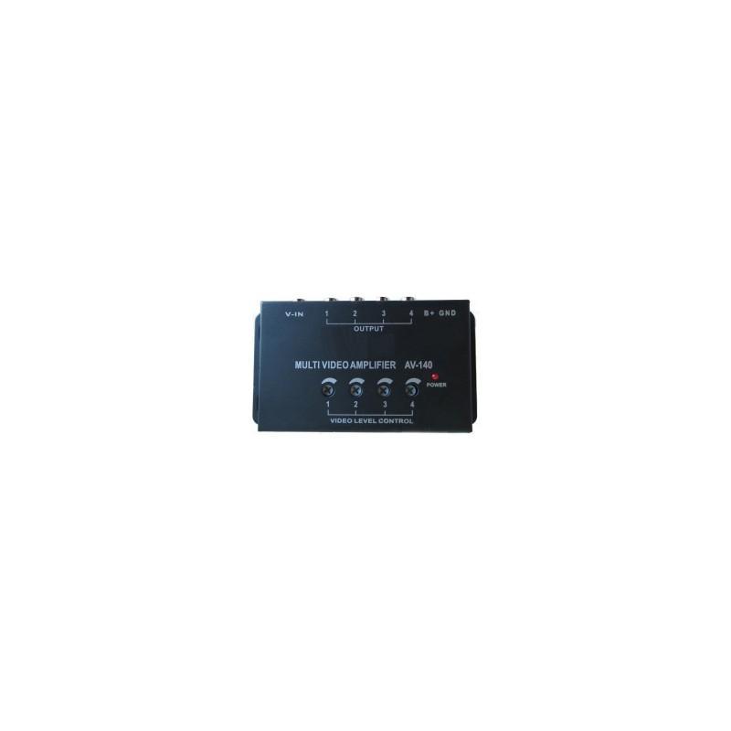 Amplificador de señal de vídeo con una entrada y cuatro salidas