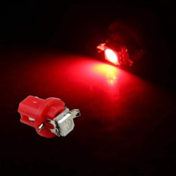 Bulbo claro do diodo EMISSOR de luz T5 B8.5D VERMELHA Tipo 58