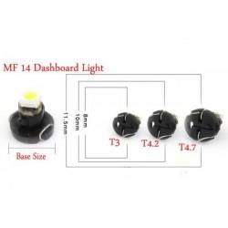 Bulbo claro do diodo EMISSOR de luz T3 BRANCA Tipo 62