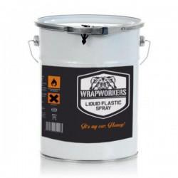 La peinture de vinyle liquide Orange Mat (4 litres)