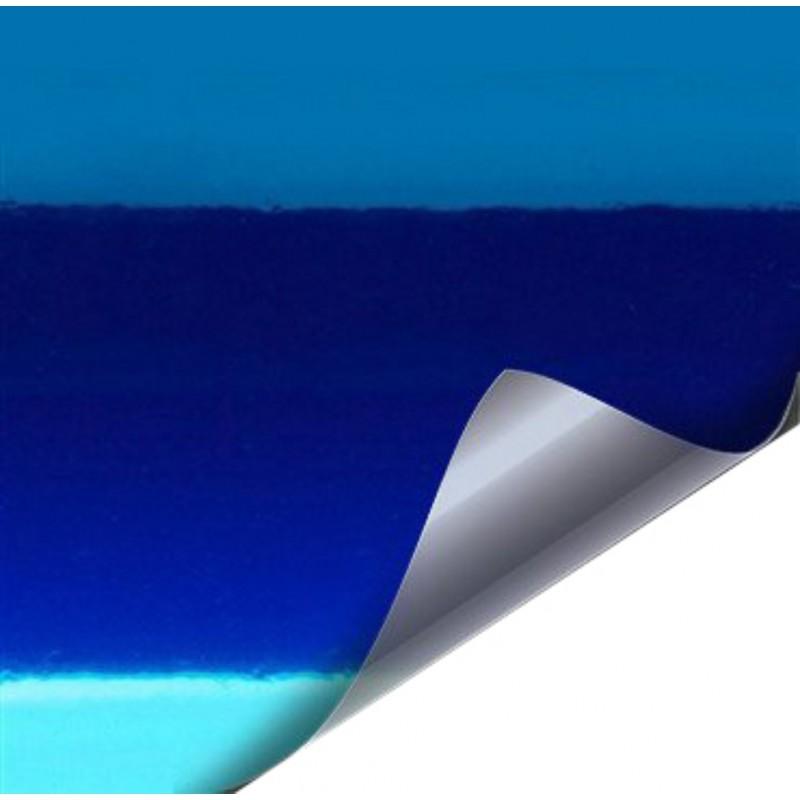 Vinyl Verchromt Blau 25 x 152 cm