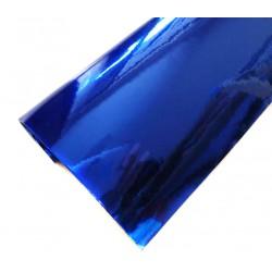Vinyle Chrome Bleu 25 x 152 cm