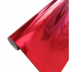Vinyle Chrome Rouge 25 x 152 cm