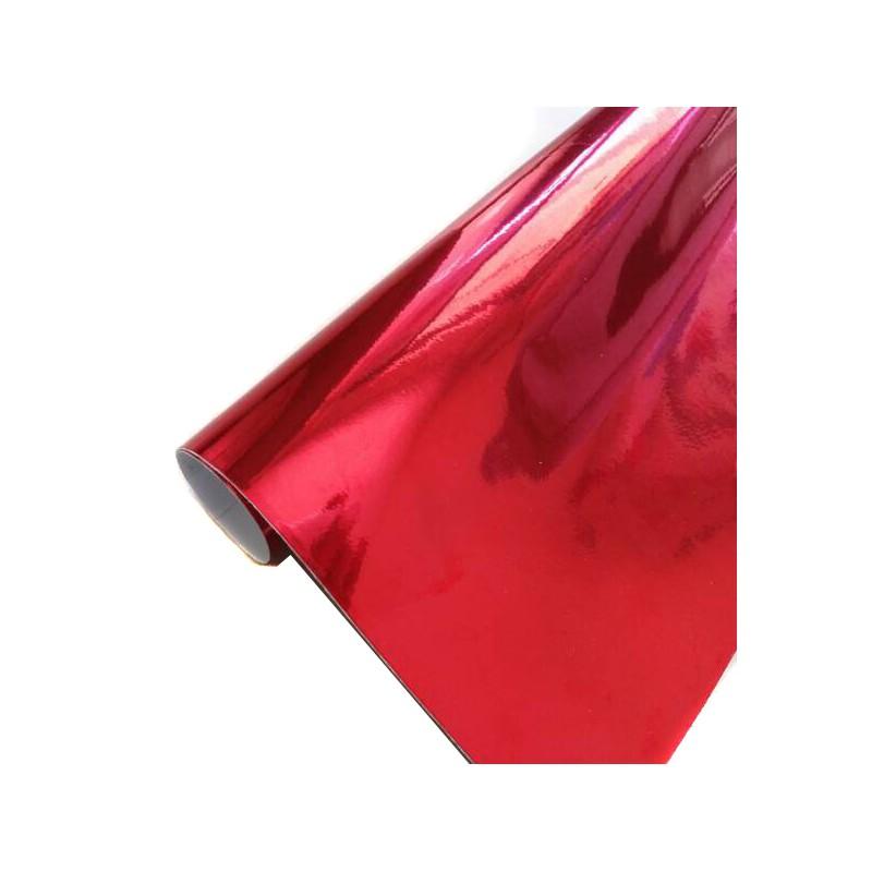 Vinyle Chrome Rouge 25 x 152 cm