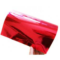 Vinil Cromado Vermelho 25 x 152 cm