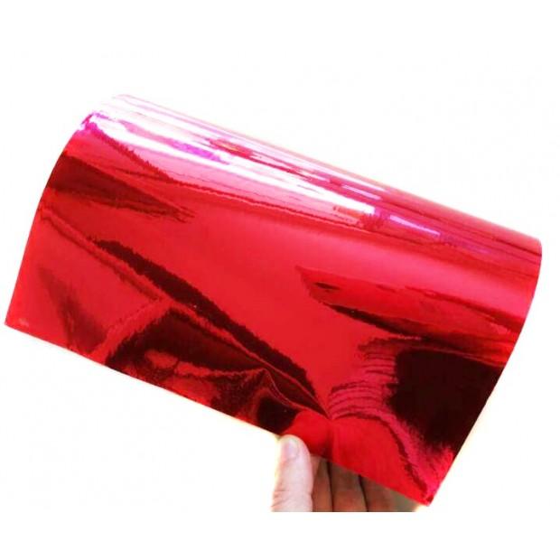 Vinil Cromado Vermelho 50 x 152 cm
