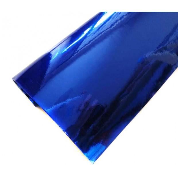 Vinyl Chrome Blue sticker
