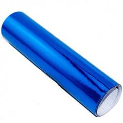 Vinyl chrome blue self-adhesive