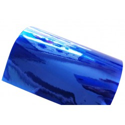 Vinyl selbstklebende chrom blau
