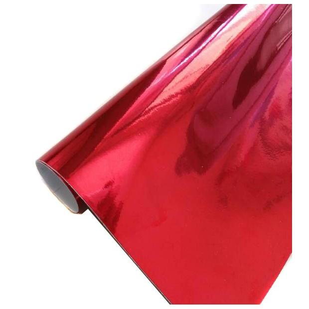 vinyl Chrome Red car